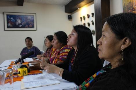 Conferencia de prensa COMUNICADO  DE COMISION DE VERIFICACION VIOLACIONES A DERECHOS HUMANOS DE MUJERES INDÍGENAS EN SAN JUAN SACATEPÉQUEZ