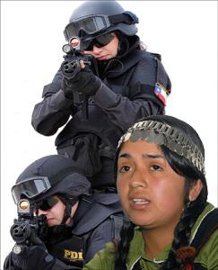 Represión contra niños Mapuche